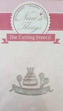 Nini's Things Happy birthday no.1 cutting stencil set die dies Elegant scrapbook