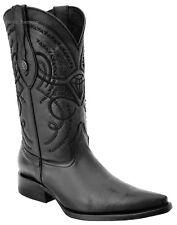 White Diamonds Men's Deer Print Cowboy Boots 3X Pointy Toe Handmade