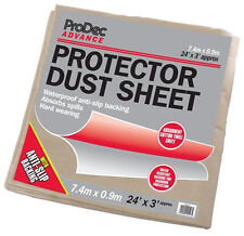 ProDec Advance Protector Dust Sheet Cover 24' x 3' Foot / 7.2 x 0.9m (CRPR243)