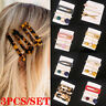 3Pcs/Set Women Geometric Hollow Acrylic Hair Clips Snap Barrette Stick Hairpin