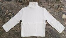 Michael Stars White Rib Knit Turtleneck - One Size (0-12)