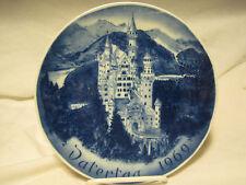 Ludwig II Bavaria Neuschwanstein BAREUTHER  Plate 1969-BLUE AND WHITE