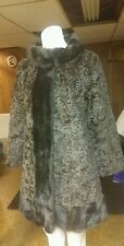 BAGOAO CAREER ORIGINAL FAUX FUR COAT SZ WOMAN SMALL LA FRANCE