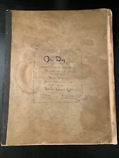 ONE DAY Manuscripts(?) Thomas Vincent Cator Marie Wardall Lotos-Eaters Tennyson