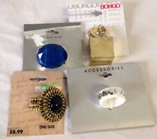 Costume Fashion Statement Rings  LOT of 4 Rings - NWT