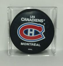 Montreal Canadiens NHL Hockey Puck Original 6 Team Puck Name Logo Puck Souvenir