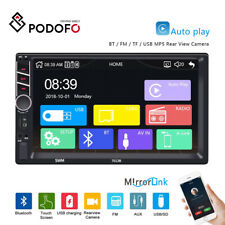 Double Din Car Stereo Radio 7'' Touch D-Play MP5with Bluetooth  FM + Camera