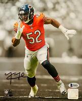 Chicago Bears Khalil Mack Signed 8 x 10 Photo Spotlight Auto - Beckett BAS COA