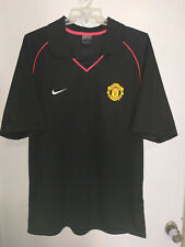 MANCHESTER UNITED POLO NIKE BLACK JERSEY SIZE - L