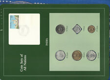 Coin Sets of All Nations India Green 1974-1986 UNC 1 Rupee 1985 5 Paise 1975