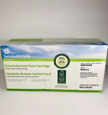 Staples Sustainable Earth Remanufactured Black Toner Cartridge SEB36AR -HP CB43A