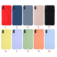For iPhone11 Pro Max  6S 8 X XR XS Liquid Silicone Phone Case With Official Logo
