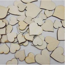 100Pcs/Bag Home Arts & Crafts Wooden Love Hearts Shape Embellishments Craft