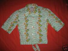 Nos 1960s Vintage Take #1 Hillbilly Retro Waist Tie Blouse Top Rockabilly Shirt