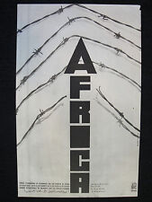 Sixto Rodriguez 1973 South Africa APARTHAID Political Poster Barb Wire Broken