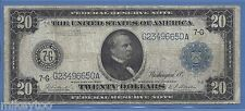 1914 Large $20 Federal Reserve Note - Blue Seal - Burke/Houston
