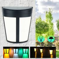 6 LED Solar Power Wall Light Waterproof Street Yard Outdoor Garden Security   /