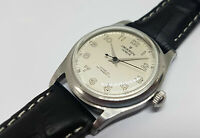 RARE VINTAGE UNIVERSAL SILVER DIAL MANUAL WIND MID SIZE WATCH
