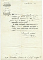1813 NAPOLEON WAR MINISTER official military order +++ signatures ARMY INFANTRY