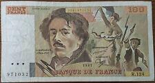 Billet 100 francs Eugène DELACROIX 1987 FRANCE  R.124