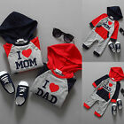 Newborn Jumpsuit Infant Baby Boy Girl Kids Cotton Hooded Bodysuit Clothes Outfit
