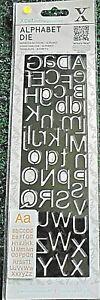 Xcut docrafts alphabet metal die slimline  NEW