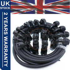 "AN -6 AN6 6-AN Fitting 8MM 5/16"" Nylon Braided Fuel Oil Hose Line 10 Metre"