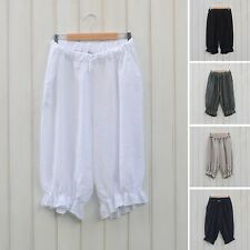 Lagenlook Linen Shorts Bloomers Style Pants Quirky Plus Size 16 - 26 Womens 5602