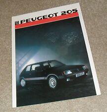 Peugeot 205 FOLLETO 1986 1.6 GTI 1.0 XE XL 1.1 XL GL XR 1.4 Gr XT GT 1.8 xld