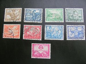 Germany 1933 USED SC# B49-57 WAGNER SET $360 perfect