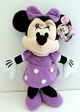 "Mickey Mouse Clubhouse 9"" Minnie Mouse Purple Dress Plush Toy New/Tags Disney"