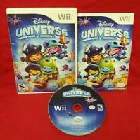 Disney Universe Nintendo Wii Wii U 1-4 player game tested & fun ! Complete