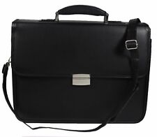 Mens Leather PU Business Laptop Case Work Satchel with Combination Locks 6905