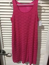 Ingrid & Isabel Womens Maternity Sleeveless Berry Lace Tank Dress New with Tags
