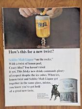 1966 Schlitz Malt Liquor Ad Who's This for a new Twist?