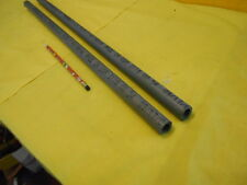 2 pc LOT of CPVC PIPE machinable plastic round bar tube stock 1/2