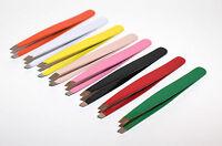 Stainless Steel Tweezers Eyebrow Tweezer Plucker/Puller Beauty Nail Slanted Tip