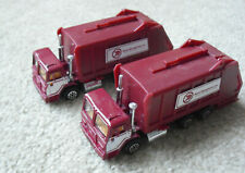 Lot of 2 1991 Road Champs Waste Management Garbage Trucks