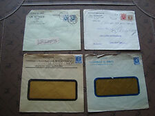 BELGIQUE - 4 enveloppes (cy80) belgium