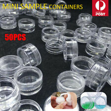 12pcs Mini Canisters Craft Cosmetic Makeup Cream Sample Containers Clear Pot Jar