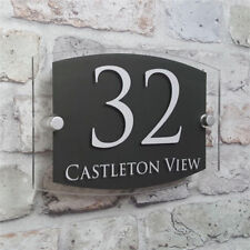 Custom Acrylic Door Number House Sign Apartment Street Address Effect Glass M7
