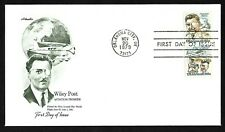 #C96a 25c Wiley Post - Artmaster FDC Se-tenant Pair