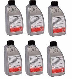 For Set of 6 Bottles Transmission Fluid OEM G052162A2 for Audi VW
