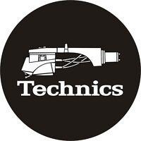 Technics 60644 Paar Antirutschmatte Tonabnehmerkopf 1 Black / Weiß Logo Original
