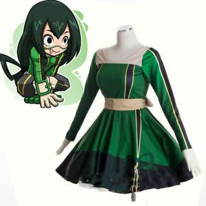 My Hero Academia Asui Tsuyu Lolita Academia Cosplay Dress
