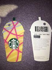 Yellow & Pink Iced Frappuccino Frappucino Starbucks Card - 2018 UK Coffee 6151