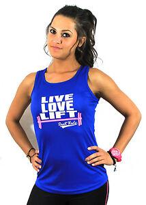 Live Love Lift Running Ladies Women Racerback Gym Yoga Workout Vest Tank Top