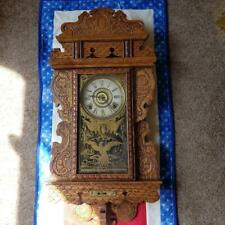 "E. N. Welch ""Eureka"" Gingerbread Hanging Kitchen Clock"