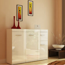 sideboard cabinet drawers modern glossy