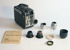 Vintage Zeiss Ikon Movikon-K16 film camera, match CZJ 1.5cm, 2.5cm, 7.5cm lenses